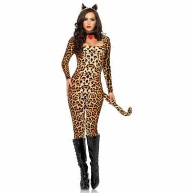 Sexy  Catsuit me luipaardprint dames outfit