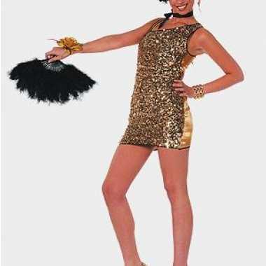 Sexy  Damesjuken bling bling goud outfit