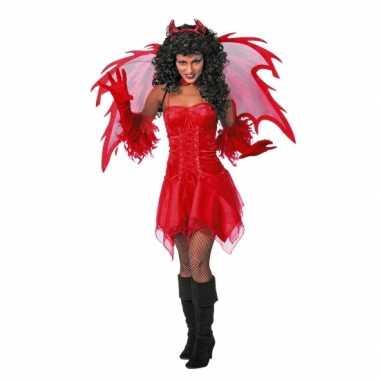 Sexy  Duivel carnavalsoutfit jurkje volw