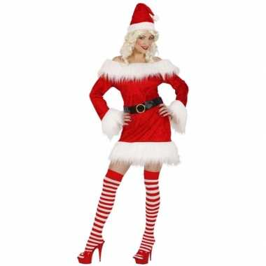 Sexy kerstoutfit dames rood fluweel