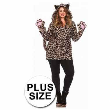 Sexy  Luipaard jurk luipaardprint grote maten outfit