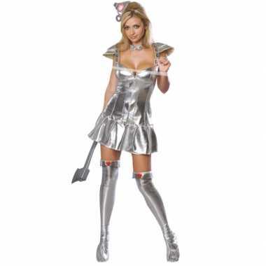 Sexy  Zilveren tinnen outfit vrouw